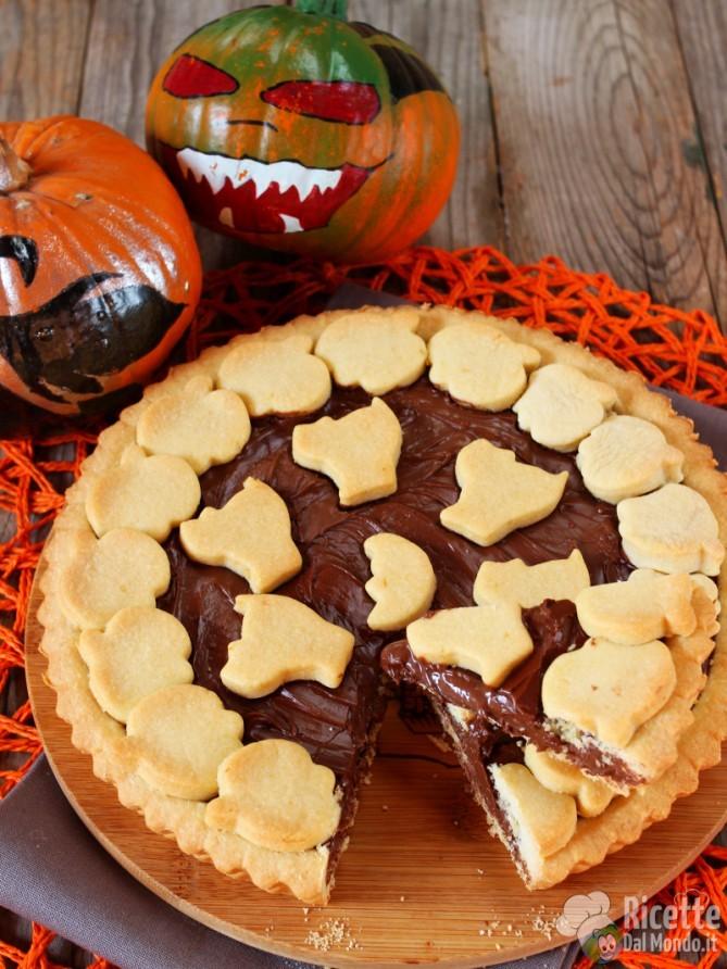 Golosa crostata alla Nutella per Halloween