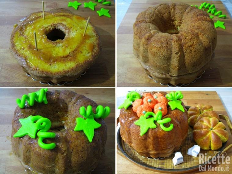 Assemblare la torta dandole la forma di una zucca