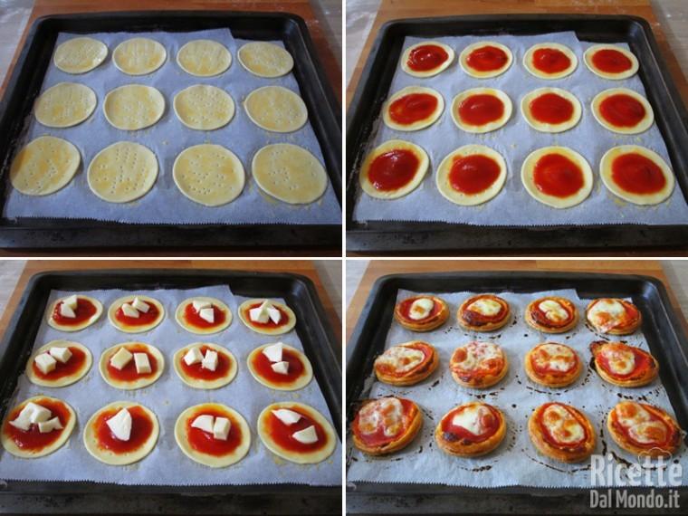 Farcire e cuocere le pizze