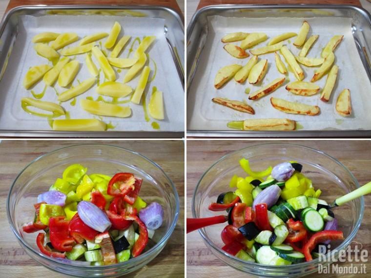 Cuocere le patate e insaporire le verdure