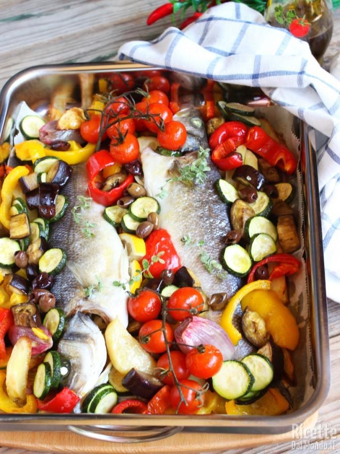 Ricetta semplice per fare la spigola con le verdure