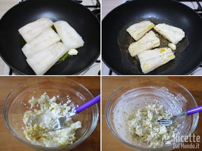 Iniziare a cuocere il pesce
