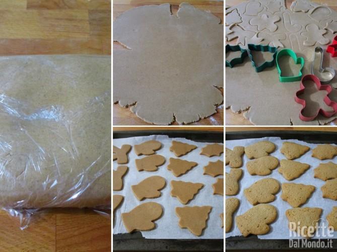 Stendere la pasta e ritagliare i biscotti