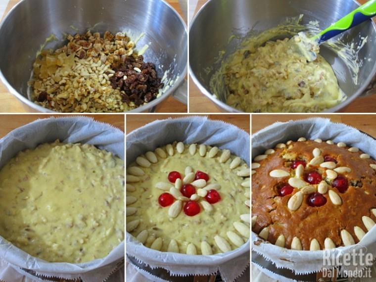 Aggiungere la frutta e cuocere la torta