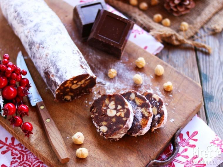 Ricetta Salame di cioccolato con il pandoro