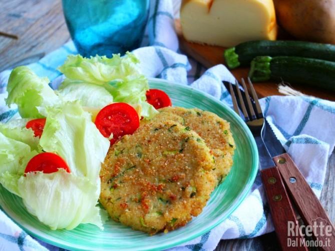 Burger di patate e zucchine