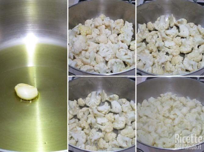 Cuocere le cimette di cavolfiore