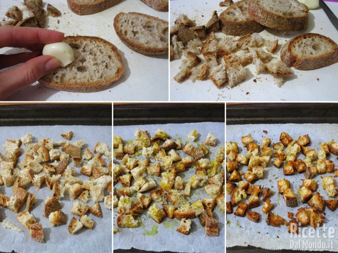 Preparare i crostini aromatizzati in forno