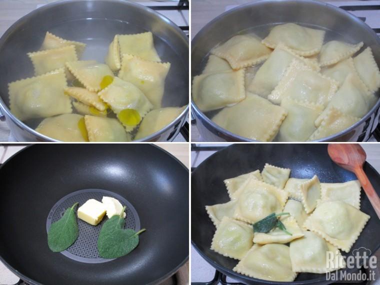 Cuocere e condire i ravioli