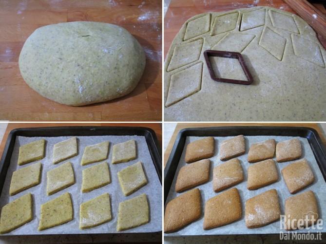 Impastare gli ingredienti e cuocere i biscotti