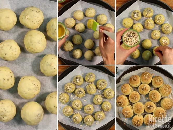 Creare la corona di panini e cuocerla