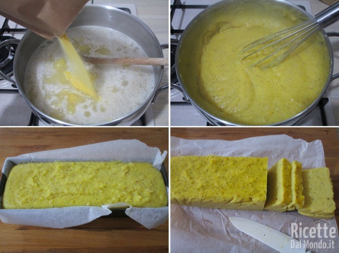 Cuocere e raffreddare la polenta