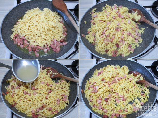 Cuocere i passatelli nel brodo e aggiungerli al condimento