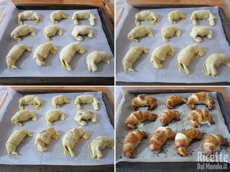 Cuocere i croissant veloci in forno caldo
