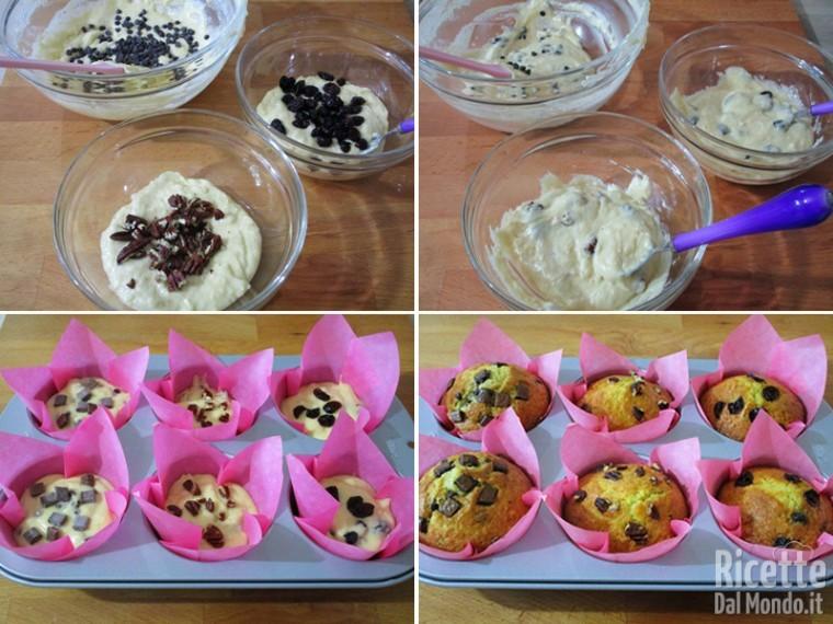 Cuocere i muffin in forno preriscaldato