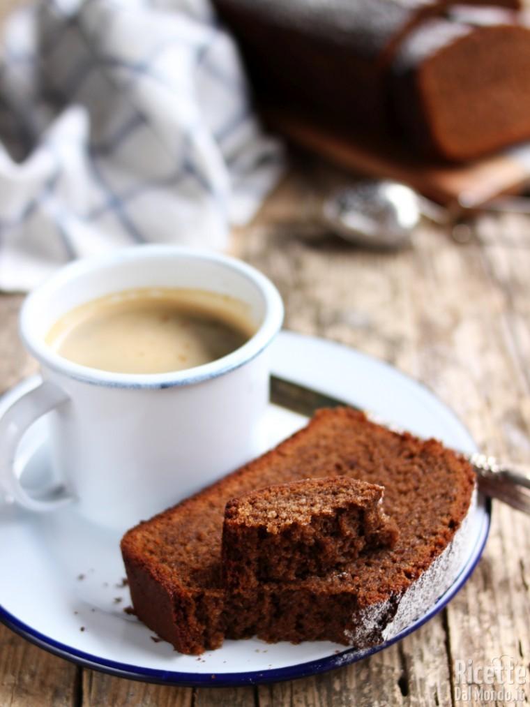 Ricetta dolce del plumcake con il caffè