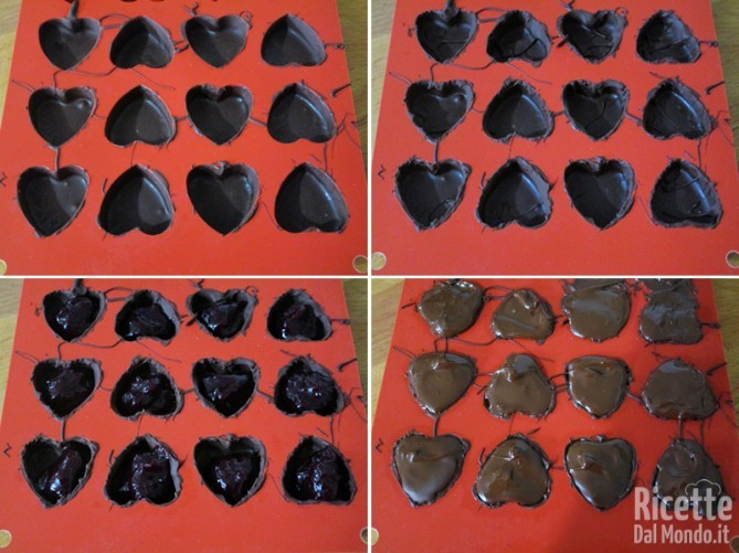 Aggiungere la confettura di ciliegie e ricoprire di cioccolato