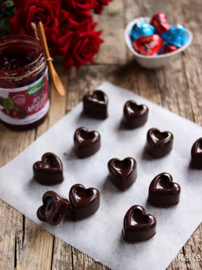 Ricetta cioccolatini fondenti ripieni