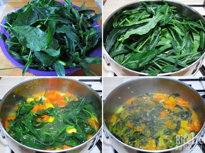 Cuocere il cavolo e unirlo alla minestra
