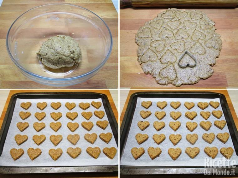 Formare i biscotti e cuocerli in forno preriscaldato