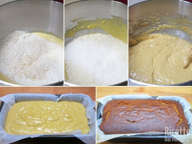 Aggiungere la farina e cuocere il plumcake