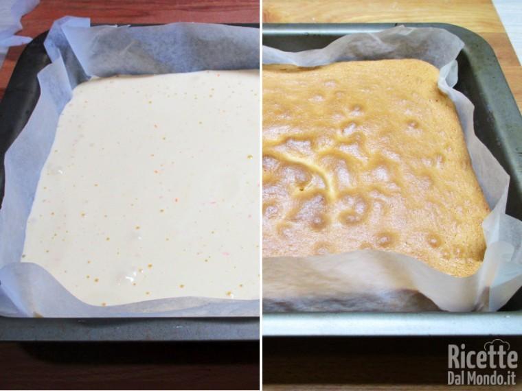 Cuocere il pan di spagna
