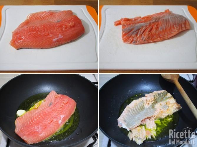 Cuocere il salmone