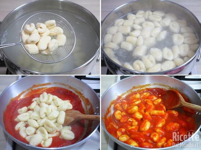 Cuocere gli gnocchi e condirli