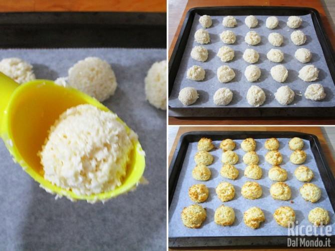 Formare le palline e cuocere i dolcetti