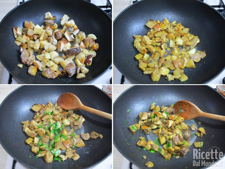 Cuocere i funghi porcini