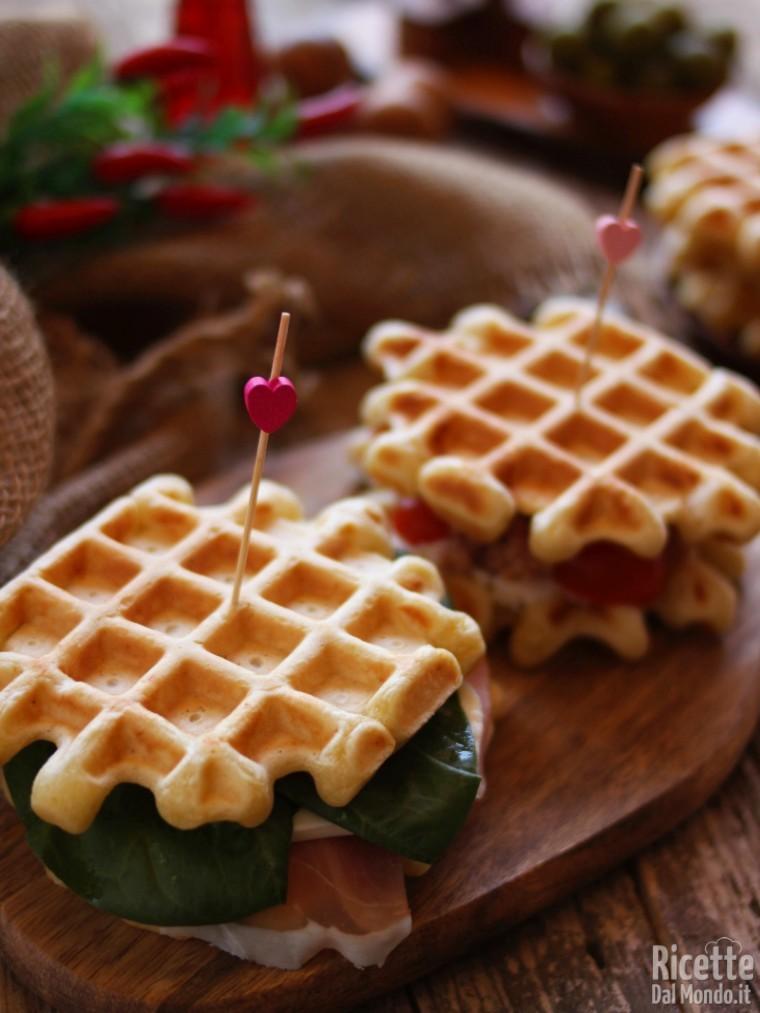 Ricetta waffle salati semplicissimi