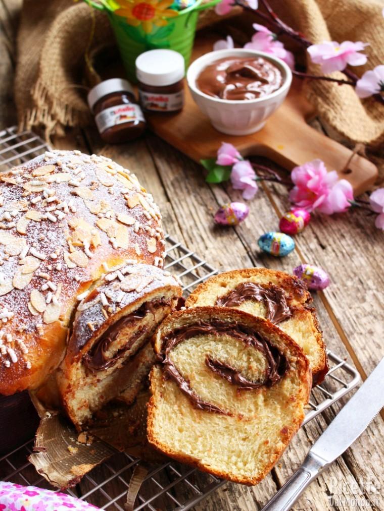 Colomba soffice di pan brioche alla Nutella