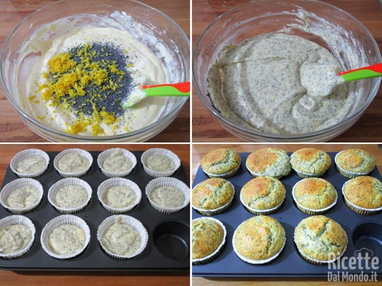 Aggiungere gli ingredienti secchi e cuocere i muffin
