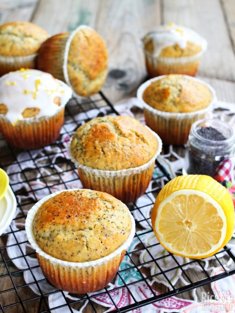 Ricetta muffin al limone con semi di papavero
