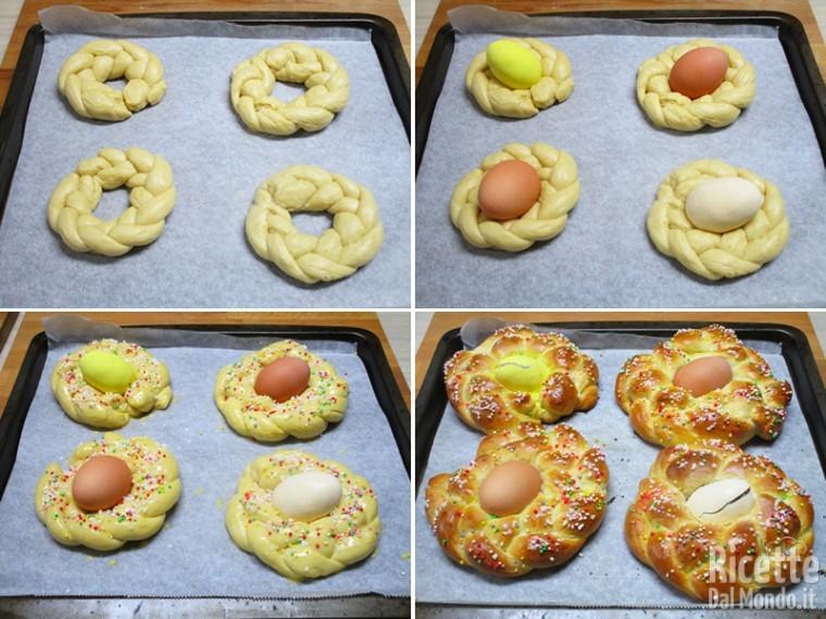Sistemare le uova e cuocere le brioche