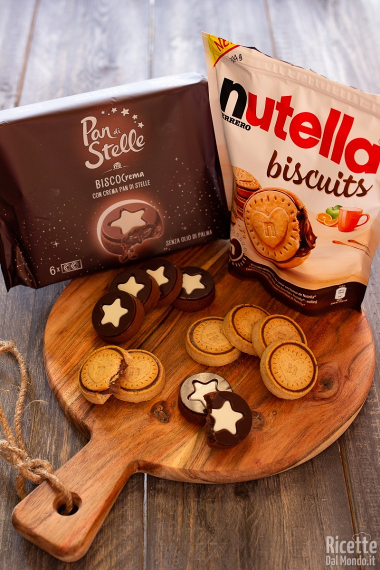 Biscocrema pan di stelle verso Nutella Biscuits