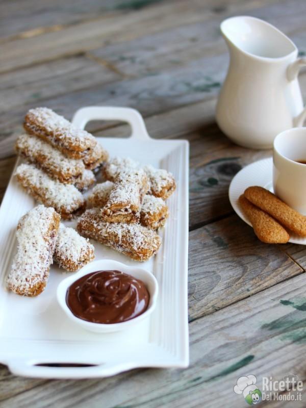 Pavesini Nutella e cocco freddi, senza cottura