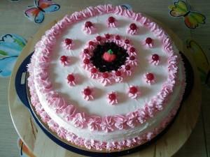 Ricetta Torta di Compleanno con Crema ai Frutti di Bosco