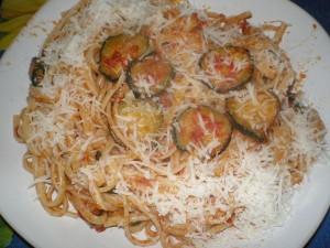 Ricetta Spaghetti con Zucchine Fritte