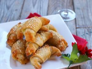 Ricetta Mini croissant di salmone e zucchine