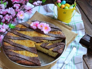 Ricetta Pastiera napoletana con pasta frolla al cacao