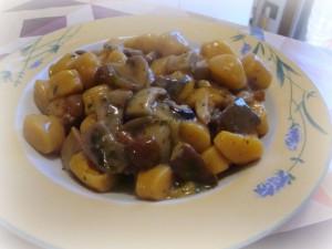 Ricetta Gnocchi di Zucca e Patate ai Funghi