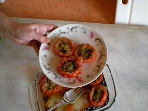 Ricetta Pomodori al Forno Gratinati con Prezzemolo ed Aglio
