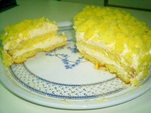 Ricetta Torta Mimosa con Crema al Mandarino