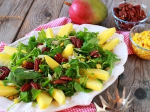 Ricetta Insalata di rucola e mango