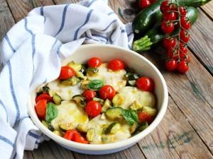 Ricetta Medaglioni di merluzzo con zucchine e pomodorini