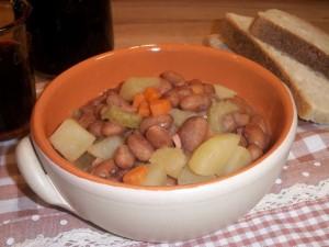 Ricetta Zuppa di Fagioli Borlotti e Patate