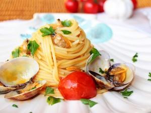 Ricetta Spaghetti alle Vongole e Pomodorini