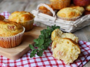 Ricetta Muffin salati al Prosciutto