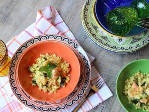 Ricetta Cous Cous con Ceci, Zucchine e Gamberi
